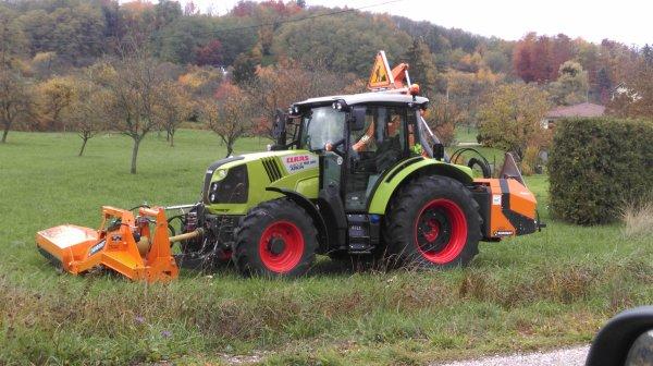 Claas Arion 420 + Noremat - Blog de agri-lorr