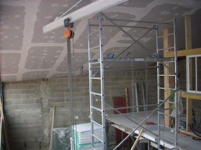 la pose du placo au plafond est fini l 39 atelier de tif 39 n. Black Bedroom Furniture Sets. Home Design Ideas