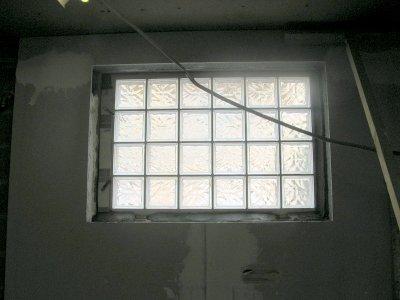 Le chassis de brique de verre de la cuisine chang l 39 atelier de tif 39 - Brique de verre cuisine ...