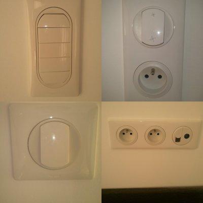 Les prises et les interrupteurs