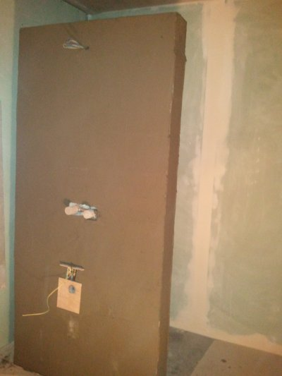 Mur de la salle d'eau