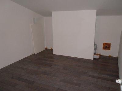 Le parquet de la chambre terrasse fini