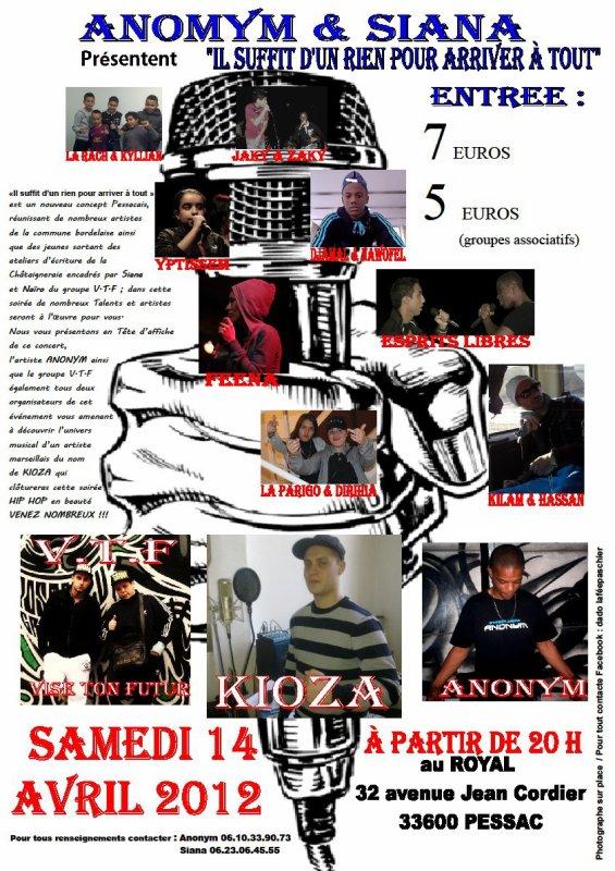 Kioza en concert du côté de l'Aquitaine (Pessac) juste à côté de Bordeaux !!!!!!