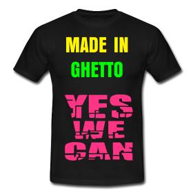 Un modèle avec le slogan de la campagne du président OBAMA