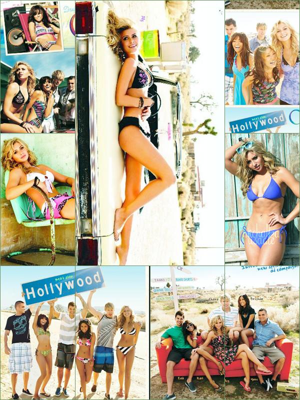 Aly posant aux côtés de Brenda Song, Kat Graham, et bien d'autres, pour la marque OP (Ocean Pacific)  Cela faisait longtemps que je n'avais pas posté de news d'Aly, pour manque d'interêt. Mais sur ce shoot elle est magnifique!