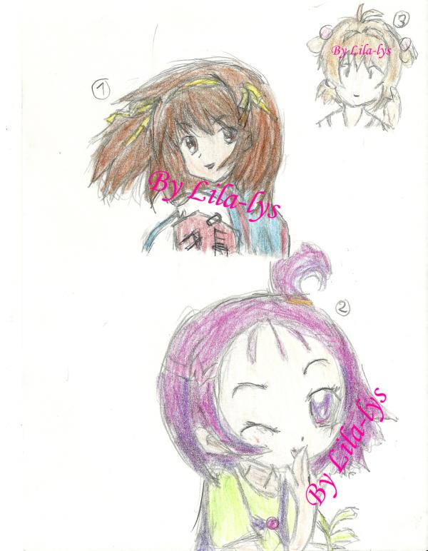 dessin fait par moi et avec pour  model des image manga