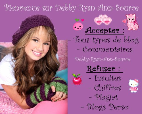 Bienvenue sur Debby-Ryan-Ann-Source