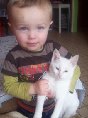 mathis et son chat