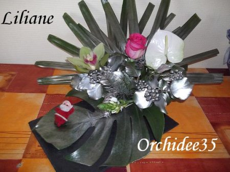 rose, cymbidium, anthurium, ornithogalum
