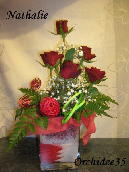 roses, gypsophile