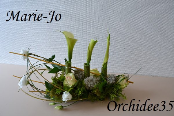 arum, rose, lysianthus