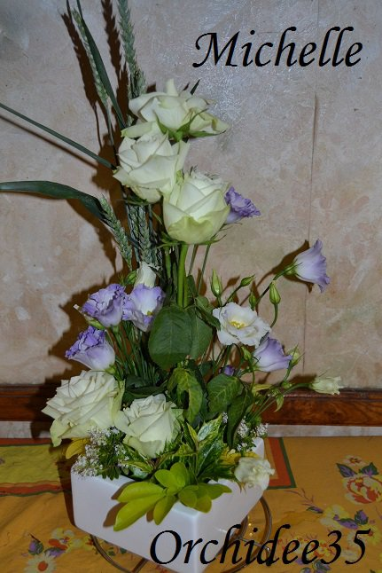 lysianthus, roses, blé