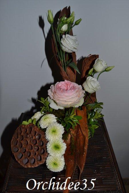 rose, lysianthus, santini