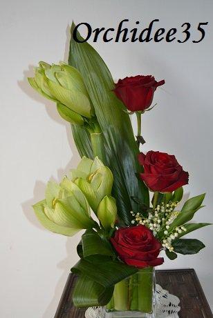 amarylis, roses, muguet