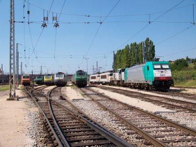 Euro Cargo Rail et SNCB à Valenton 20/08/2011