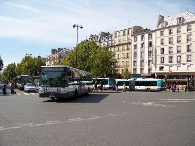 RATP bus gare de l'est 31/08/2011