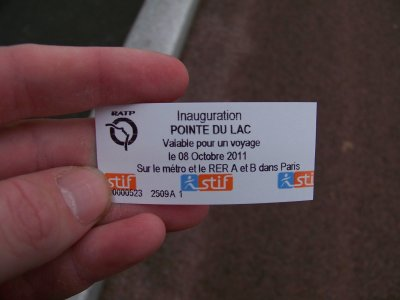RATP ligne métro 8 prolongation à Créteil Pointe du Lac 08/10/2011