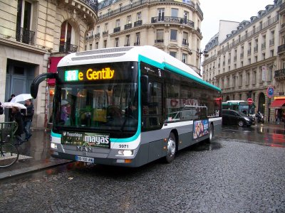 RATP bus hybride 26/01/2012