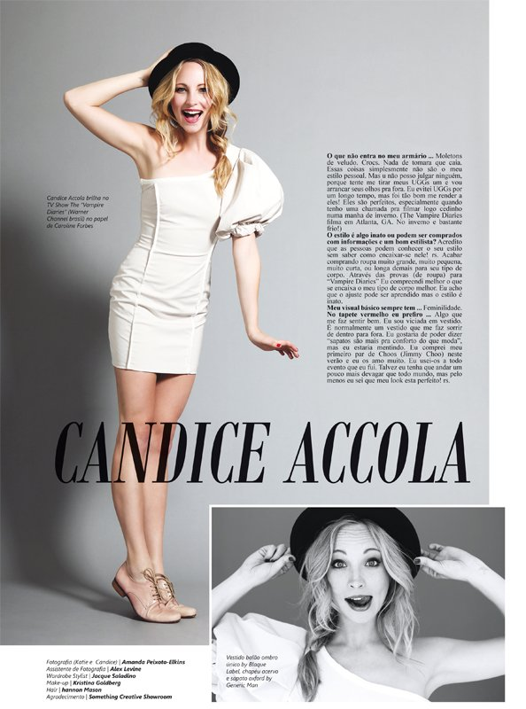 Candice Accola pour le magazine Salada !