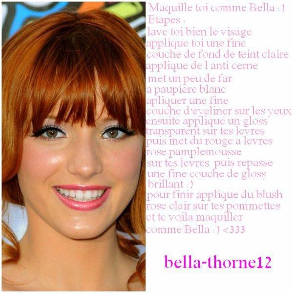 Se maquiller comme Bella Thorne !!