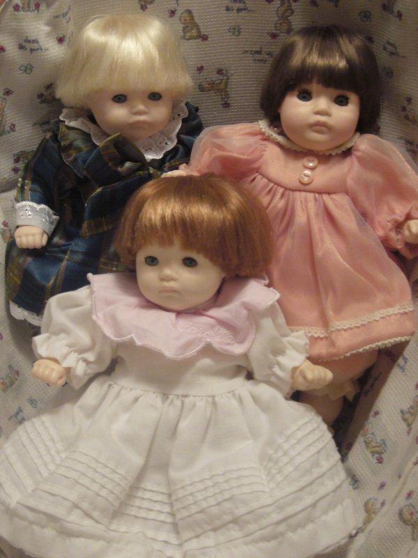 Les triplées PBJ Dolls by Pauline réunies !