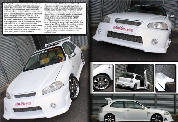 Civic en Reportage dans Reflex Motors Magazine numero 9 ( Novembre 2010)