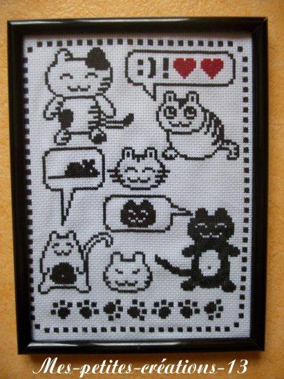 Mes petits chats dans un cadre