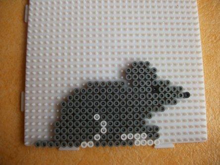 souris grise en perle a repasser