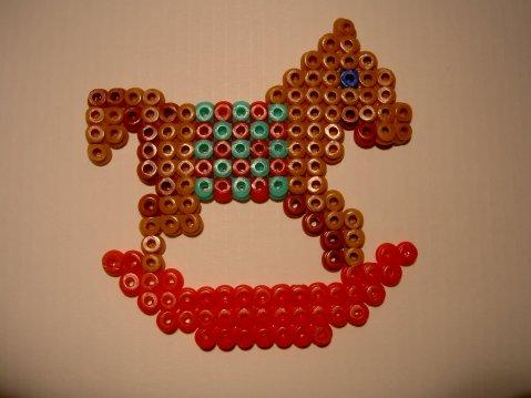 Petit cheval à bascule pour Noël