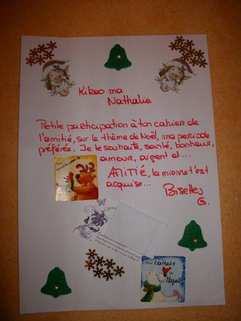 Voici ce que j'ai reçu de la part de Galinette-Perlettes