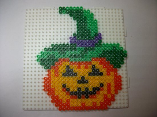 Perle Hama Citrouille 2 Pour Mon Arbre D Halloween Blog De Mes
