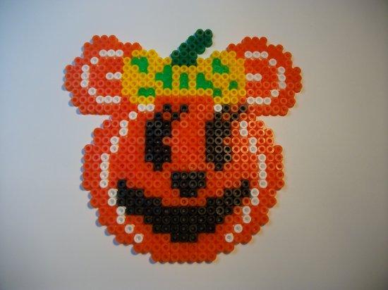 Perle Hama  Minie  citrouille pour Halloween