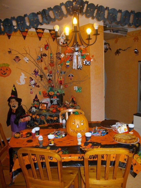Aujourd'hui petite fête d' Halloween pour les enfants