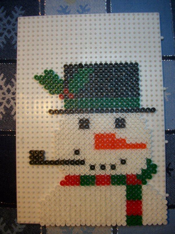 Bonhomme de neige 6 en perle hama