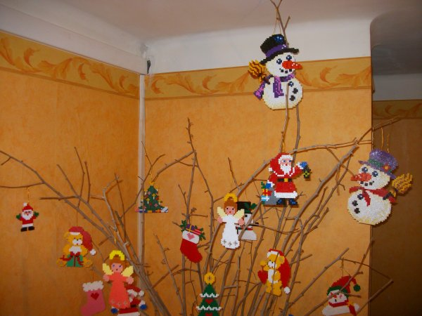 Bonhomme de neige 8 en perle hama