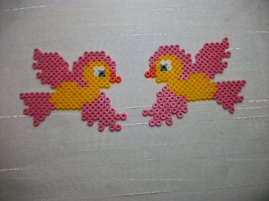 Oiseaux en perle Hama