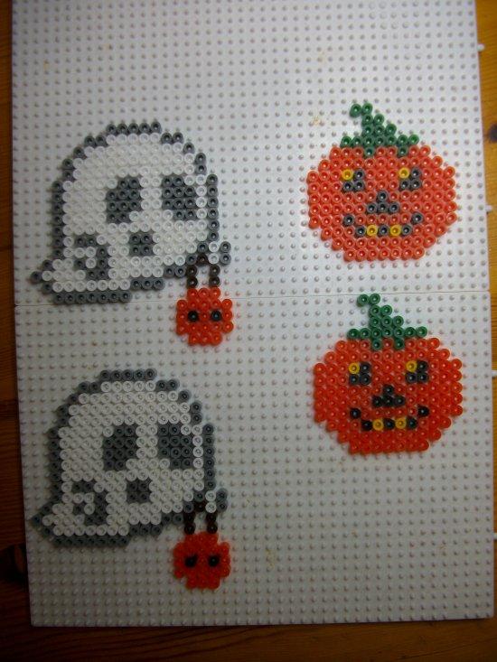 Citrouille Fantôme En Perle Hama Pour Halloween Blog De Mes