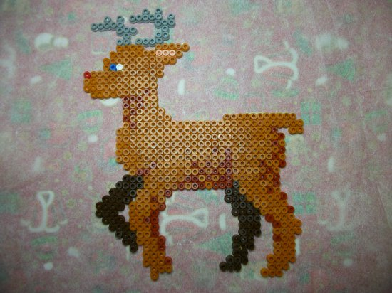 Les rennes du Père Noël  en perle hama ou perles a repasser