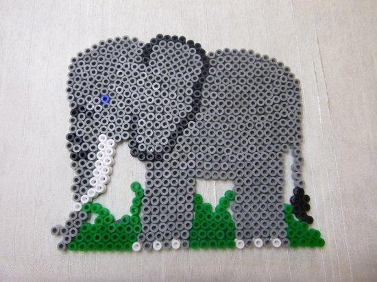 lion girafe éléphant en perle hama