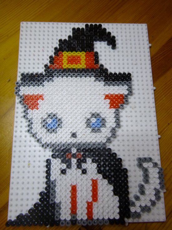 Perle Hama :Chat Halloween