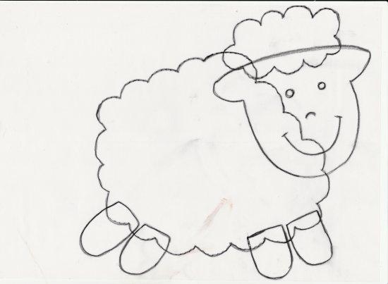 Petit mouton en papier