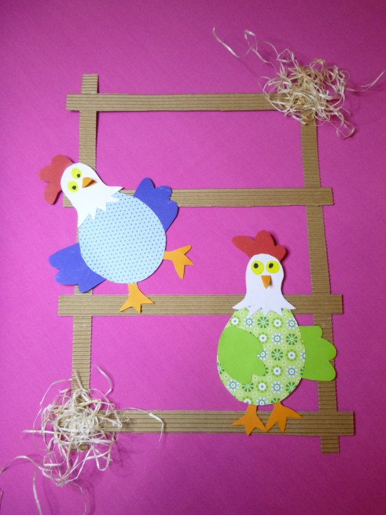Poules en papier