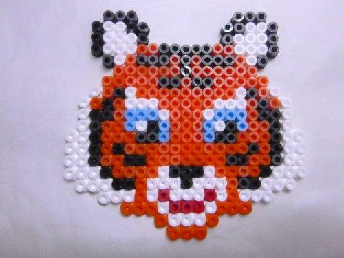 Tête de Tigre en perle hama