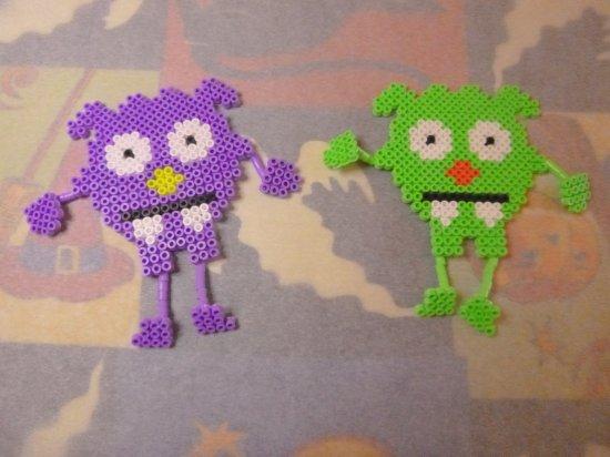 Monstres en perles Hama pour Halloween