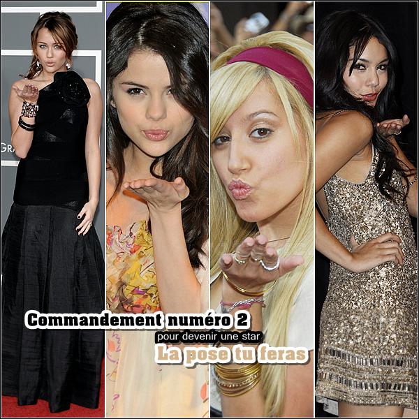 miley-source.skyrock.com  Divertisemment. « Les commandement à suivre pour être une,' vrai STARS  la pose tu feras comme Miley Cyrus ,Selena Gomez , Ashley Tisdale ou encore Vanessa Hudgens __________________PARTIE   2     miley-source.skyrock.com