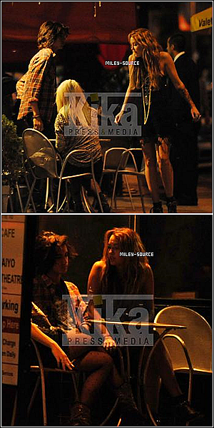 miley-source.skyrock.com  26 Octobre. Miley dinant à Los Feliz avec Avan Jogia et Anna Olivier ( copine de Demi Lovato )  miley-source.skyrock.com