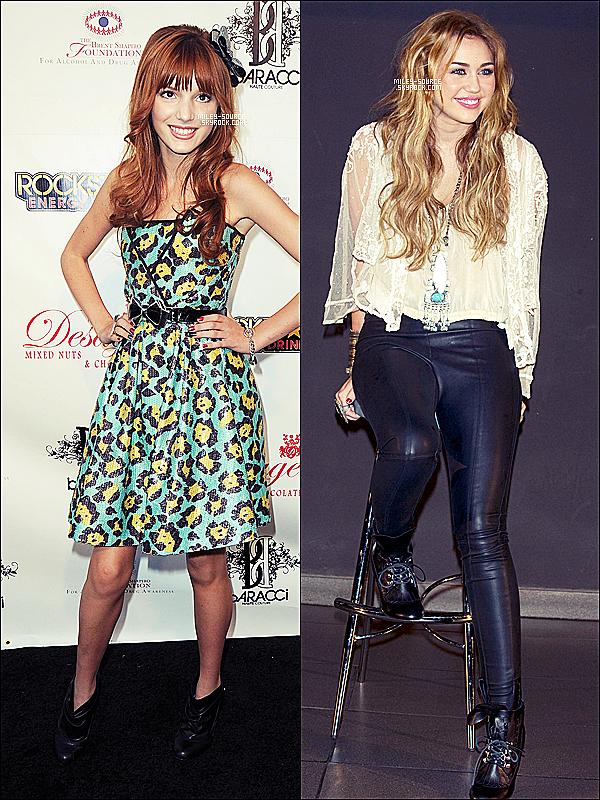 .  ____« Être comparé à Miley c'est très injuste » BELLA THORNE_______ Elle manque pas d'air celle là !           Du haut de ses 1métres 57 , Bella Thorne est une actrice née en 1997 ,elle a actuellement 13 ans. Héroine de la nouvelle série made in Disney « Shake It Up » , on l'a compare déjà à Miley Cyrus qui a elle aussi commencé très tôt sa serie « Hannah Montana » avec un succès fou. La petite actrice Bella , n'est pas encore à l'aise sur ses comparaisons ; « Bella est la nouvelle Miley Cyrus » par ci , et par là . Quand les journalistes ont évoqué devant Bella , le fait d'être la nouvelle « Miley Cyrus » elle a répondu « C'est une déclarations très injuste » a déclaré le chouchou de Disney , puis elle a repris « Elle est l'idole des adolescente , je ne peut pas être plus grande que ça .. » Mon avis personnelle : Bella c'est Bella ,Miley c'est Miley ,elles sont INCOMPARABLE , elles n'ont pas le même talent , ni la même personnalité . Et toi qu'est ce que tu en pense? As-tu regardé Shake It Up ?        .