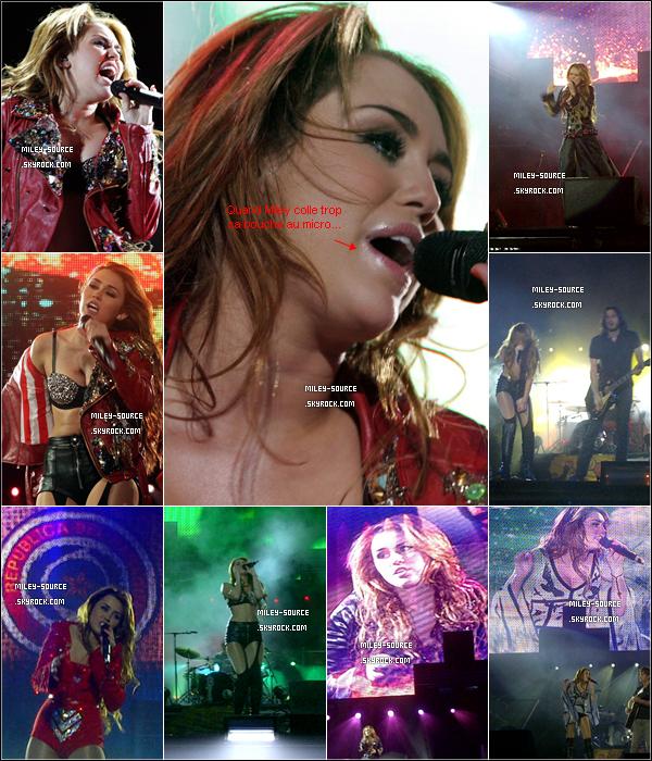 _ 10 MAI 2011              Après sa conférence de presse, Miley a poursuit sa tournée à Asuncion, au Paraguay. _