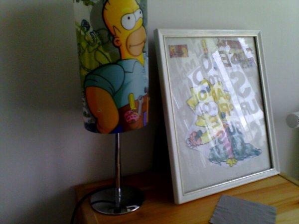 Lampe +cadre que j'ai fait