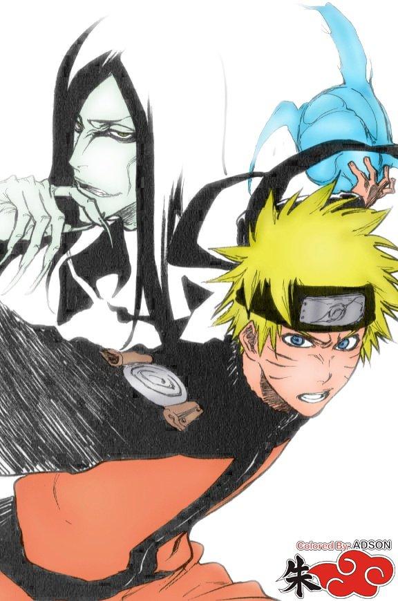 Naruto et Orochimaru by Tite Kubo